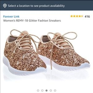Shoes - Glitter rose gold sneakers